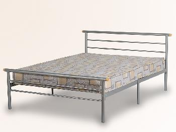 Seconique Orion Double Silver Metal Bed Frame
