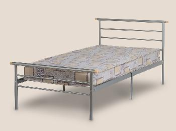 Seconique Orion Single Silver Metal Bed Frame