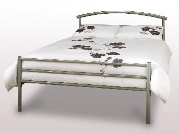 Serene Brennington King Size Silver Metal Bed Frame