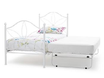 Serene Furnishings Daisy 3' Single White Stowaway Bed