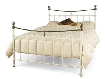 Serene Furnishings Edwardian II 6' Super King Black with Antique Bronze Metal Bed