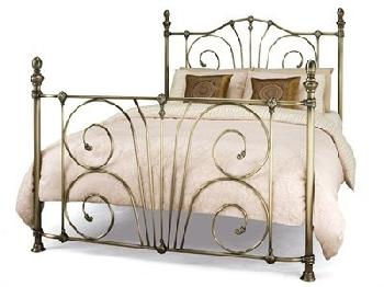 Serene Furnishings Jessica 6' Super King Antique Brass Metal Bed