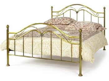 Serene Furnishings Madison 6' Super King Antique Brass Metal Bed