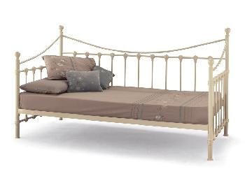 Serene Marseilles Ivory White Metal Day Bed Frame