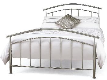 Serene Mercury King Size Silver Metal Bed Frame