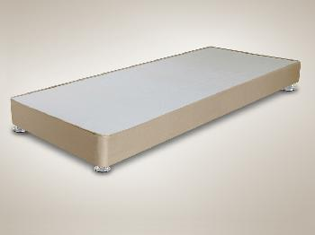 Shire 2ft 6 Small Single Taupe Faux Suede Low Divan Base On Silver Glides Small Single Divan Beds