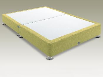 Shire Victoria Quince Super King Size Low Divan Base on Silver Glides