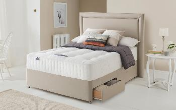 Silentnight 1350 Mirapocket Naturals Divan, Superking, Matching Paris Headboard, Ottoman + 2 Drawers