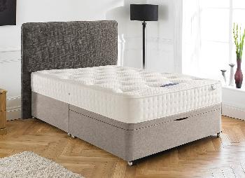 Silentnight ashridge pocket sprung ottoman bed firm 4 for Cheap king size divan beds with storage