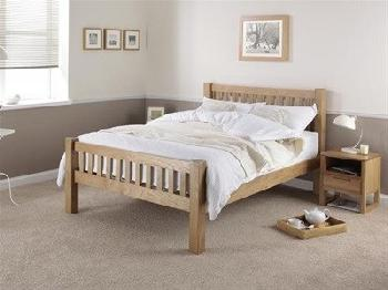 Silentnight Ayton Oak 4' 6 Double Oak Wooden Bed