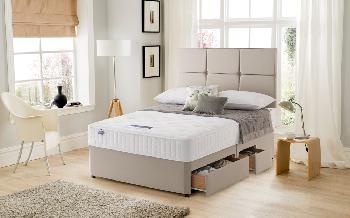 Silentnight Essentials Memory Pocket 1000 Divan, Double, No Storage, No Headboard Required