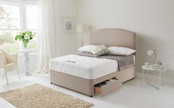 Silentnight Essentials Pocket 1000 Divan, Small Double, No Storage, No Headboard Required