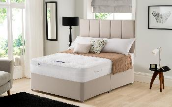 Silentnight Geltex Select 1000 Mirapocket Divan, King Size, 4 Drawers Continental, Matching Palermo Headboard