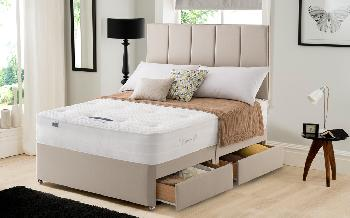 Silentnight Geltex Select 1350 Mirapocket Divan, King Size, No Storage, Matching Palermo Headboard