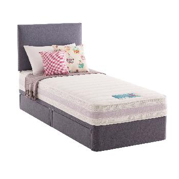 Silentnight Healthy Growth Kids Divan Set - Lilac - Small Double - 2 Drawer