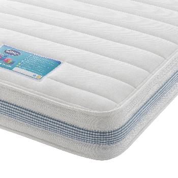 Silentnight Healthy Growth Kids Microquilt Mattress - Blue - Small Double