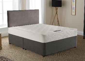 Silentnight lyndhurst open spring divan bed medium 3 39 0 for Cheap king size divan