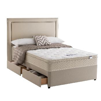 Silentnight Oslo Memory Set Double 2 Drawers Stone