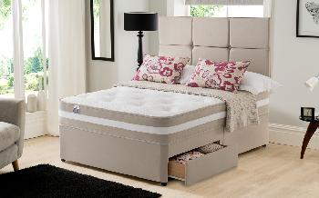 Silentnight Torino 1000 Mirapocket Memory Divan, Superking, Ottoman + 2 Drawers, Matching Palermo Headboard