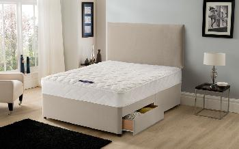 Silentnight Vilana Limited Edition Miracoil Divan, Small Double, 2 Drawers, No Headboard Required