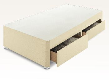 Sleep Relax 2ft 6 Universal Small Single Faux Suede Divan Base
