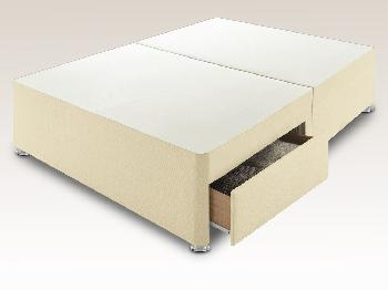 Sleep Relax 4ft Universal Small Double Faux Suede Divan Base