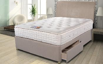 Sleepeezee Backcare Superior 1000 Pocket Divan Bed, King Size, 4 Drawers Continental, Marble
