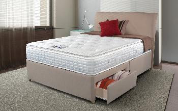 Sleepeezee Cool Sensations 2000 Pocket Divan, Single, Ottoman Storage, Slate