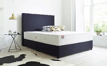 Slumberland Divine 1400 Pocket Divan, Single, 2 Drawers, Heather, Vogue Headboard