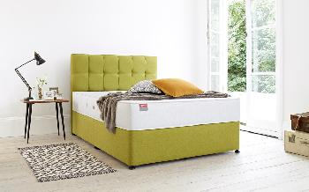 Slumberland Tempo Divan, Double, Ottoman Storage, Heather, Urban Headboard
