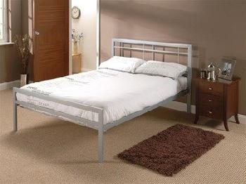 Snuggle Beds Buckingham Silver (2015) 4' Small Double Silver Slatted Bedstead Metal Bed