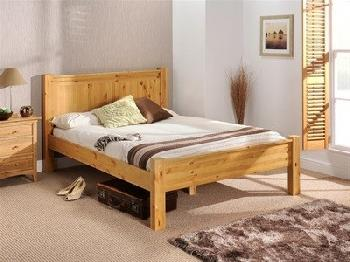 Snuggle Beds Chesterfield (Solid Pine) 6' Super King Honey Antique Pine Wooden Bed