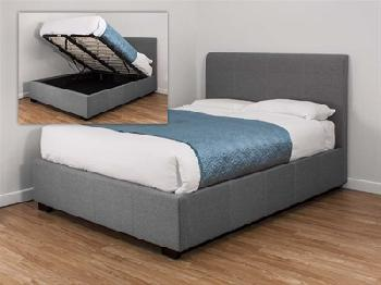 Awesome Lpd Hartford King Size Grey Fabric Bed Frame Theyellowbook Wood Chair Design Ideas Theyellowbookinfo