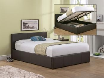 Snuggle Beds Roma (Brown) 4' 6 Double Brown Ottoman Bed