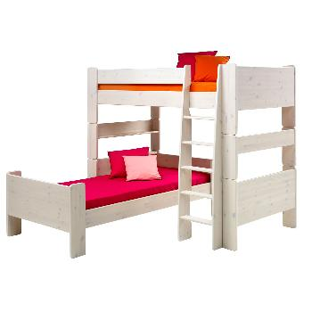 Steens Whitewash Bunk To Single And High Sleeper Extension Kit Steens Whitewash Single Bed to High Sleeper