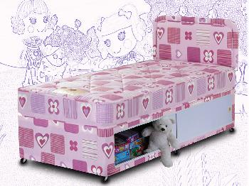 Sweet Dreams 2ft 6 Hearts Small Single Divan Bed