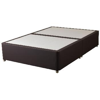 Sweet Dreams Amber Faux Leather Divan Base - Single - Platform - Chocolate - None