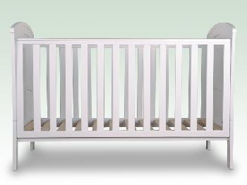 Sweet Dreams Flat Packed Felix White Cot Bed