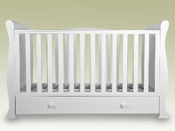 Sweet Dreams Flat Packed Izzy White Cot Bed