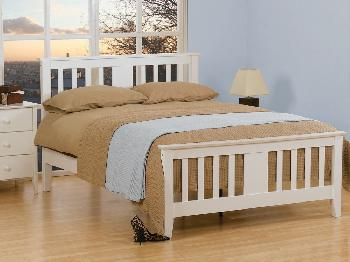 Sweet Dreams Kestral Double White Wooden Bed Frame