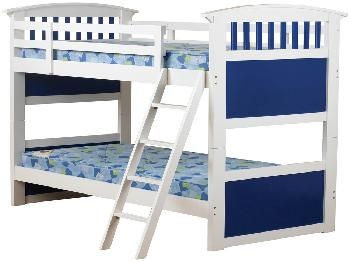 Sweet Dreams Ruby Blue Wooden Bunk Bed Frame
