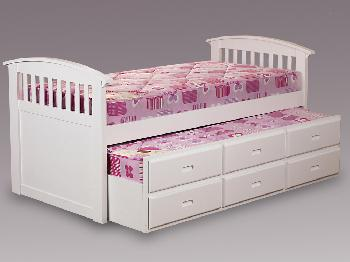 Sweet Dreams Ruby White Captains Guest Bed Frame