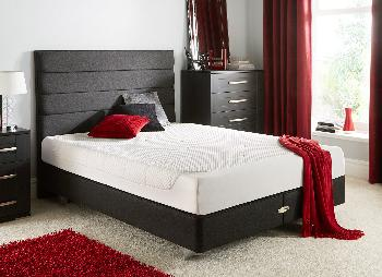 TEMPUR Cloud Deluxe 22 and Luxury Base Divan Bed With Legs - Charcoal - Medium - 6'0 Super King