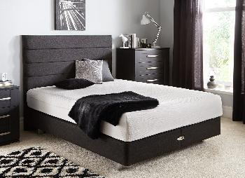 TEMPUR Sensation Deluxe 22 and Luxury Base Divan Bed With Legs - Charcoal - Medium - 6'0 Super King
