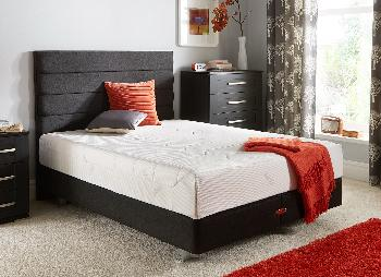 TEMPUR Sensation Deluxe 27 and Luxury Base Divan With Legs - Charcoal - Medium - 6'0 Super King