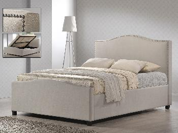 Phenomenal Time Living Brunswick Double Sand Fabric Ottoman Bed Frame Bralicious Painted Fabric Chair Ideas Braliciousco