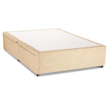 Universal Beige Chenille Divan Base No Drawer - Super King - Beige