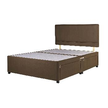 Universal Chocolate Suede Divan Base Double No Drawer