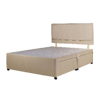 Universal Stone Suede Divan Base Double No Drawer