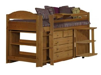 Verona Design Ltd Maximus Midsleeper Set 1 3' Single Blue Details Cabin Bed